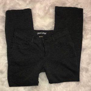 EUC Faded Glory charcoal knit dress pants 10